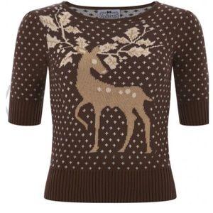 Pinup Collectif Vintage Deer Jumper Sweater Large